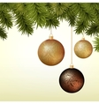 Abstract Christmas background with golden and vector image