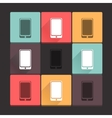 Beautiful pure cell icon set Simple flat square vector image