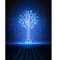 blue circuit tree vector image