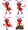 Cartoon funny ant isolated on white background vector image