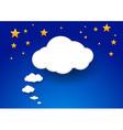 Cloud as a giant speech-bubble vector image