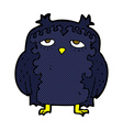 comic cartoon wise old owl vector image