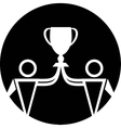 Cup winner icon vector image