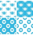 Dishware patterns set vector image