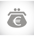 Euro black icon vector image