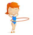 girl gymnast vector image