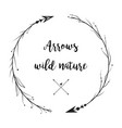 hand drawn wild style arrows set collection vector image