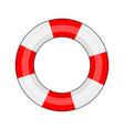 lifebuoy on a white background vector image