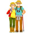 senior travellers vector image