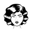 retro woman smiling vector image
