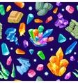 Stones Decoration Isometric Seamless Pattern vector image