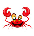 smiling happy crab vector image