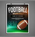 football event card design invitation template vector image