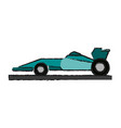 race car draw vector image