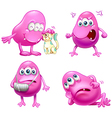 Four beanie monsters vector image