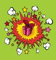 Boom presents surprise vector image