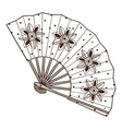 Ladys fan with pattern vector image vector image