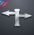 Blank Road Sign icon symbol 3D style Trendy modern vector image
