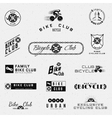 Bicycle badges logos and labels for any use vector image