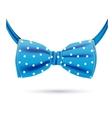 blue bow tie vector image