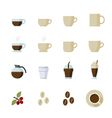 Coffee and Coffee cup Icons vector image