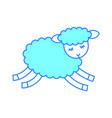 cute lamb character icon vector image