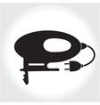Fret saw tool icon black silhouette Element logo vector image