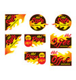 hot sale price offer deal labels stickers corner vector image