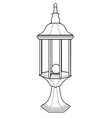 lantern out line vector image