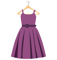 Purple dress vector image