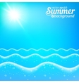 Seascape seamless line background vector image