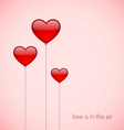 Ballons with heart shape vector image
