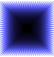 led mirror abstract square background blue vector image