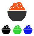 porridge flat icon vector image