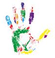 handprint 02 vector image vector image
