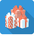 set red and white gift box vector image