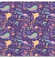 Purple sea pattern vector image