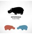 Hippopotamus icon vector image
