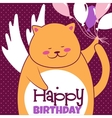 Cat with balloons vector image