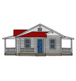 White wooden house vector image