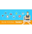 Online personal fitness instructor conceptual vector image
