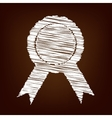 Scrible icon on the brown background vector image