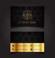 stylish business card design 1002 vector image
