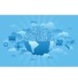 Global Company blue vector image