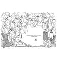 Zen Tangle peas frame vector image vector image