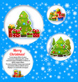 christmas tree composition vector image