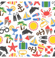 colorful summer vacation seamless pattern vector image