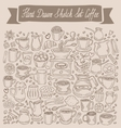Hand drawn sketch set coffee vector image