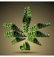 Marijuana worLd vector image