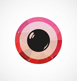 pearl circle pink triangle background icon vector image